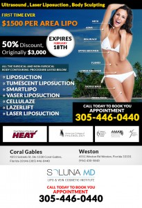 50% discount on all types of Liposuction